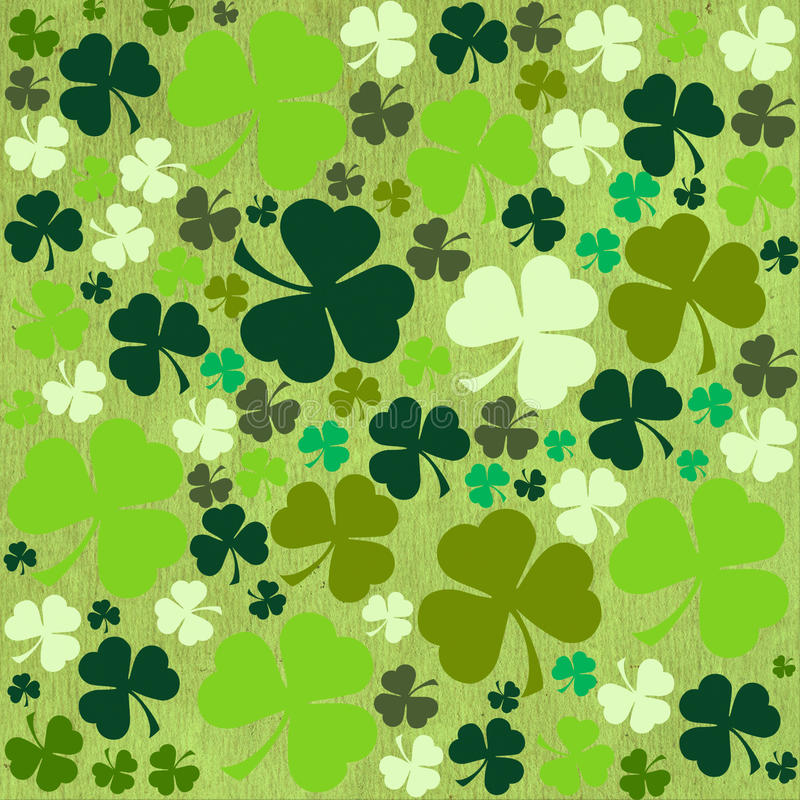 St. Patrick's day background in green colors royalty free illustration