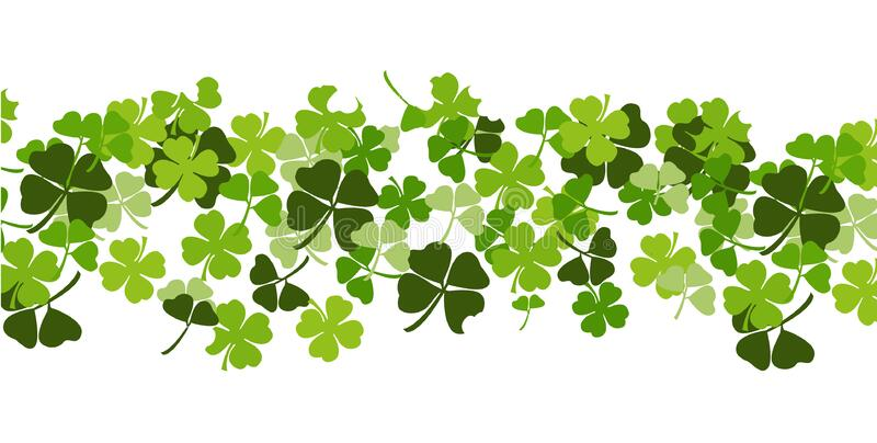 St. Patrick`s day background with shamrock royalty free illustration