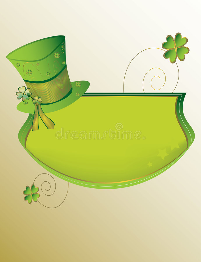 St Patrick's Day banner background stock illustration