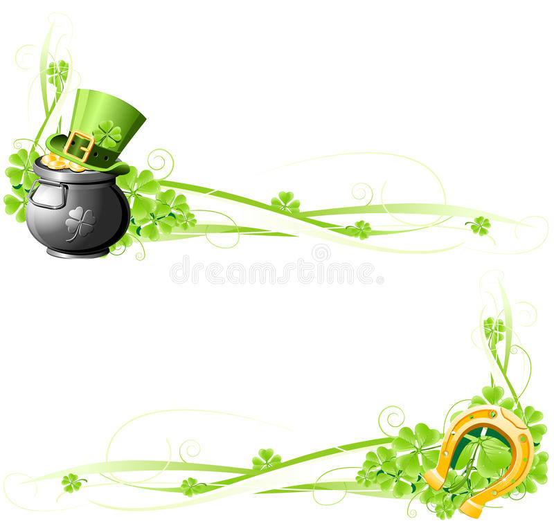 St. Patrick S Day Banners Royalty Free Stock Photography