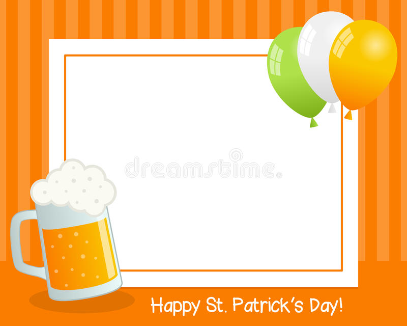 St. Patrick`s Day with Beer Horizontal Frame stock photo