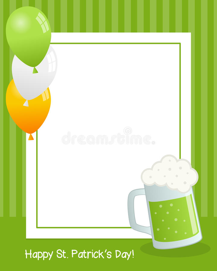 St. Patrick`s Day with Beer Vertical Frame stock photos