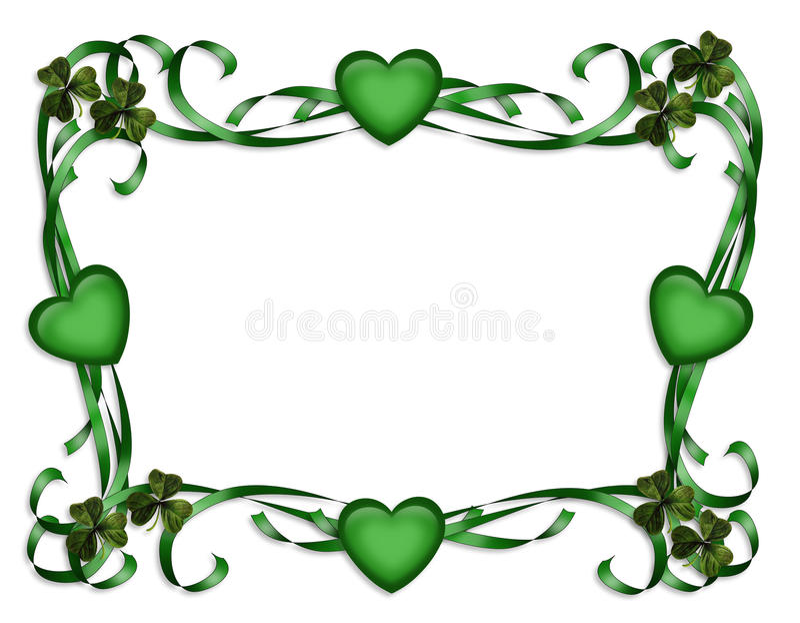 Download St Patrick's Day Border stock illustration. Image of decoration - 13195296