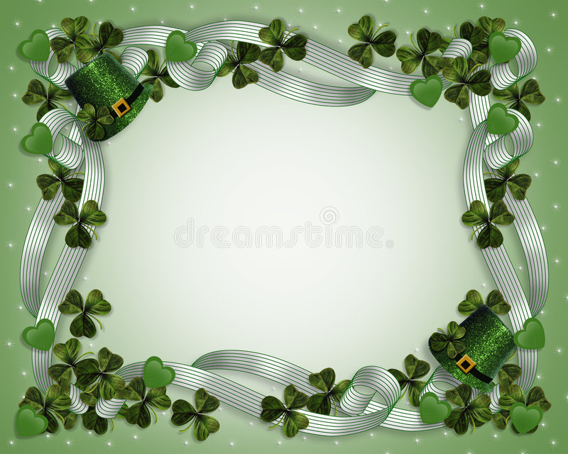 Download St Patrick's Day Border Stock Image - Image: 8157551