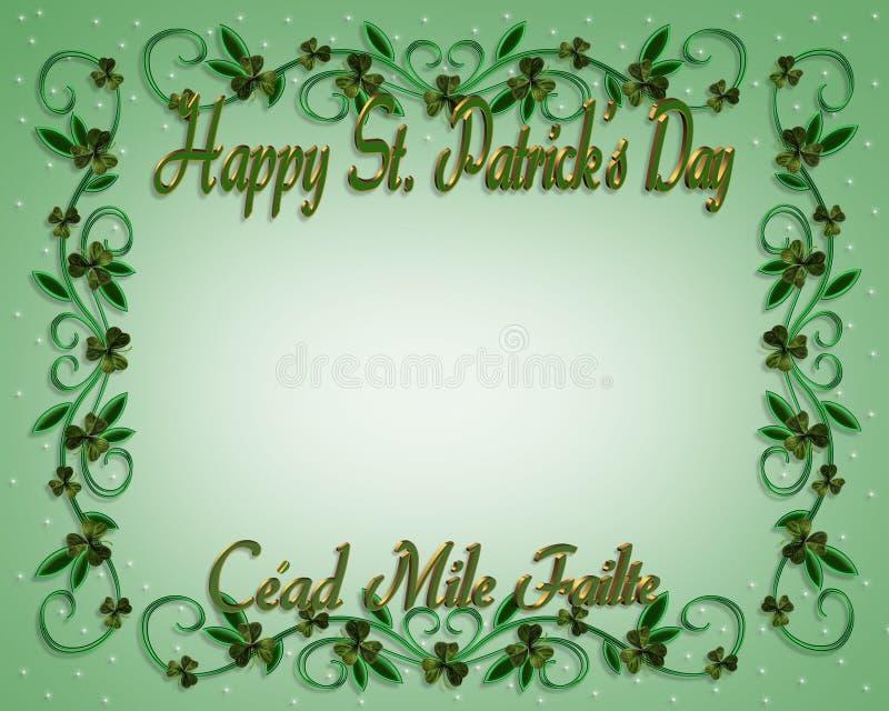 Download St Patrick's Day Border Shamrocks Stock Images - Image: 8292434