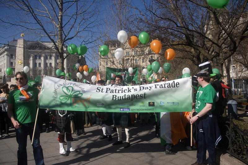 Download St. Patrick's Day, Budapest, Hungary Editorial Stock Photo - Image: 23890103