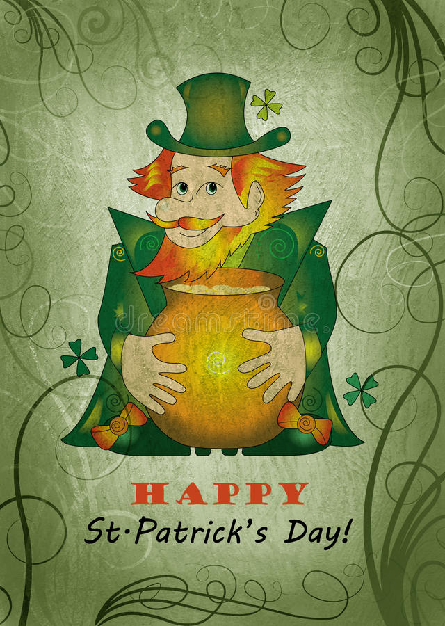 St.Patrick S Day Card Stock Photography