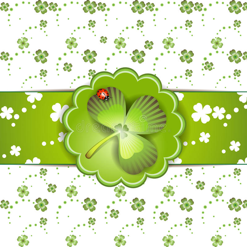 St. Patrick's Day card vector illustration