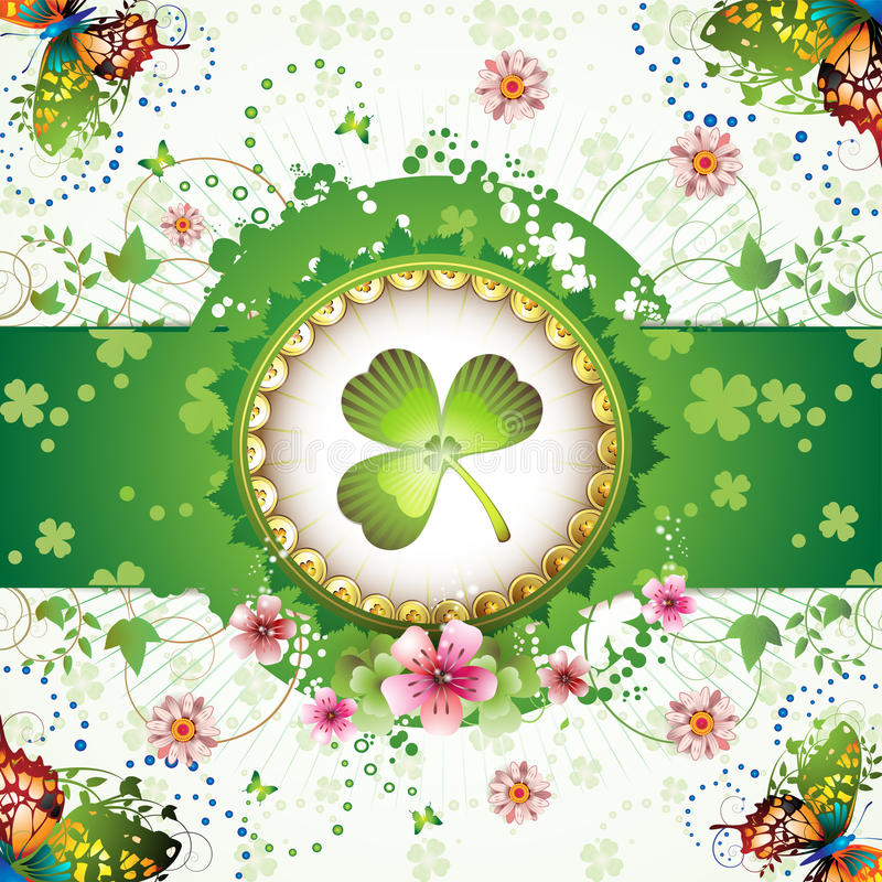 St. Patrick's Day card stock illustration