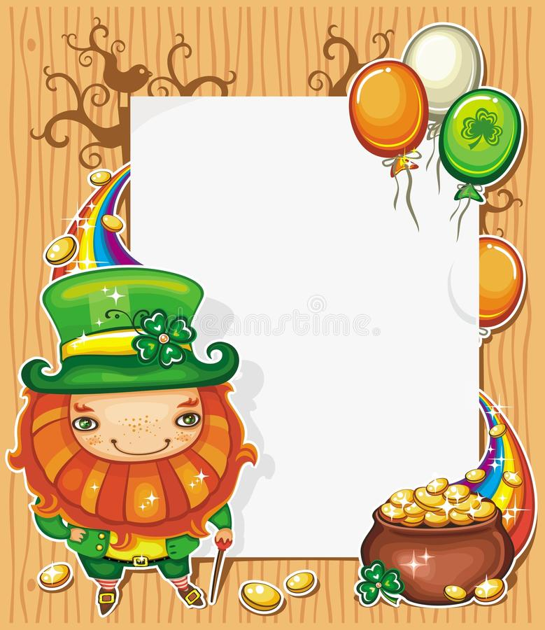 Download St Patrick's Day Cartoon Frame Stock Vector - Image: 18608532