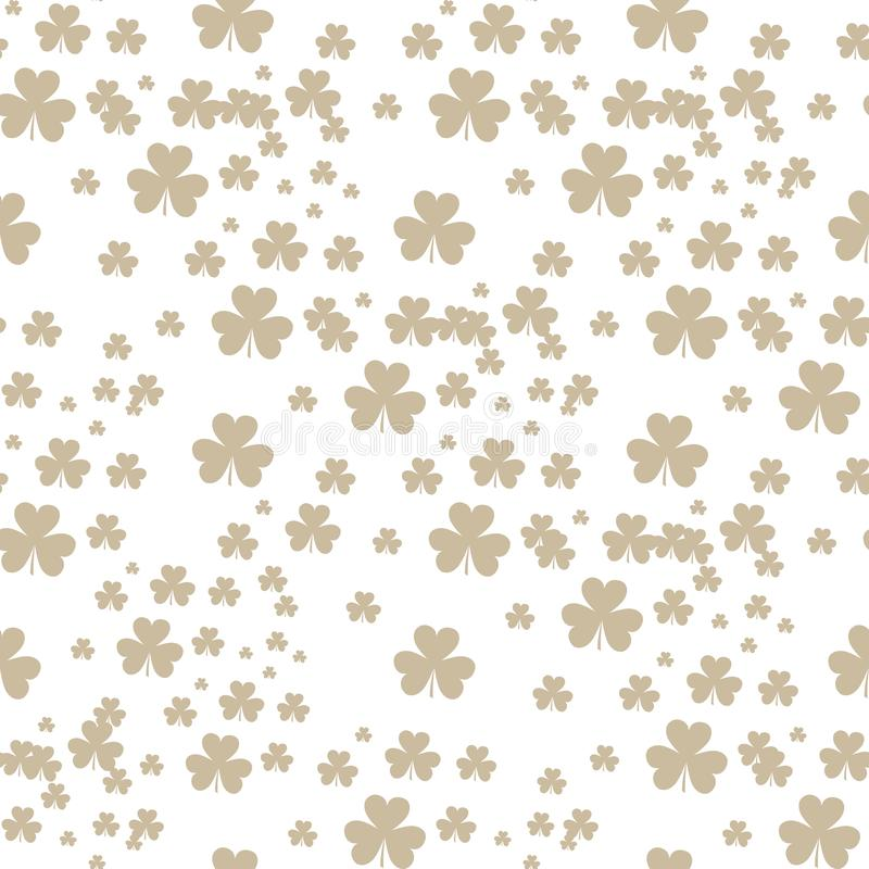 St Patrick s Day Clover seamless pattern. Vector illustration for lucky spring design with shamrock. Green clover vector illustration
