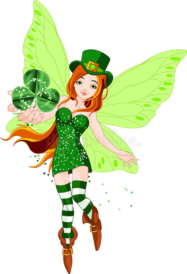 Download St. Patrick's Day Fairy stock vector. Image of butterfly - 18590612