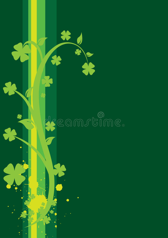 St. Patrick's Day Floral Background - vertical stock images