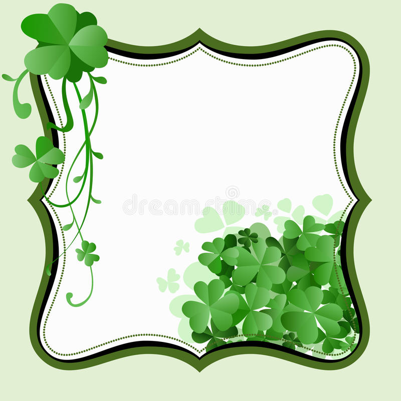 St. Patrick`s Day frame stock image