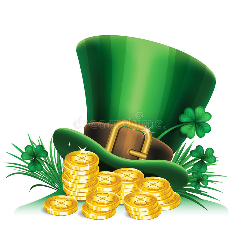 Green Pot Of Gold Clipart St. Patrick's Day Gree...