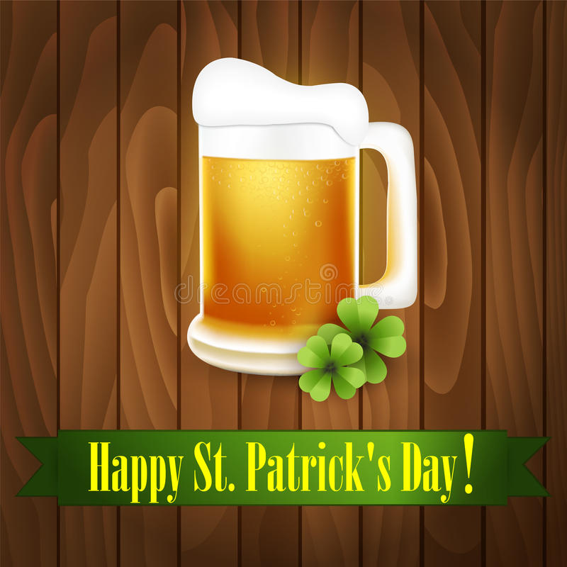 St. Patrick's Day greeting card. Vector vector illustration