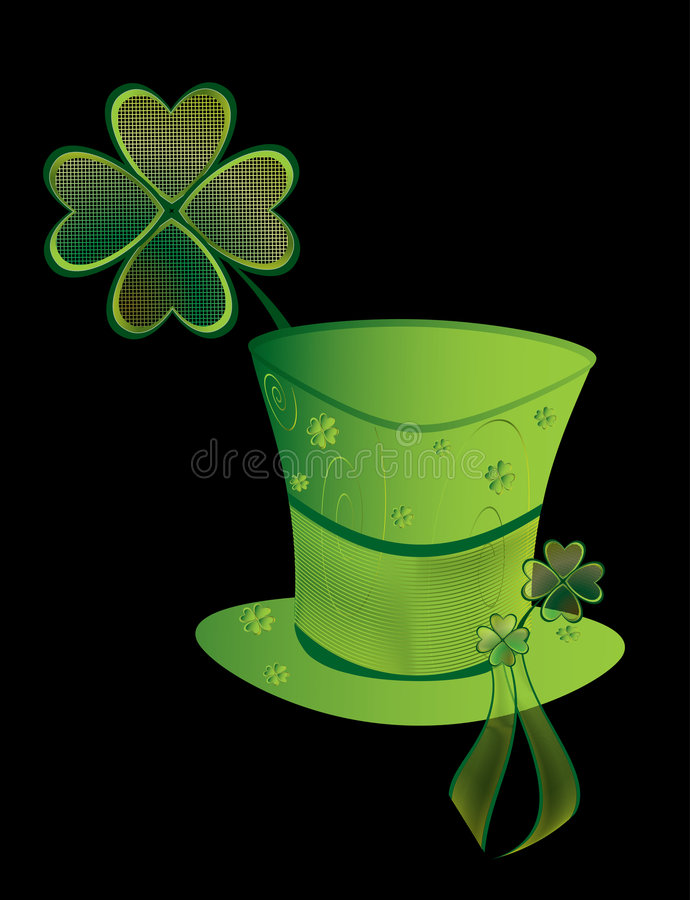 St Patrick's Day hat vector illustration