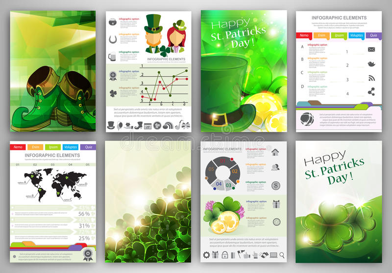 Download St. Patrick's Day Infographic Template Backgrounds Stock Vector - Illustration of design, brochure: 50781323