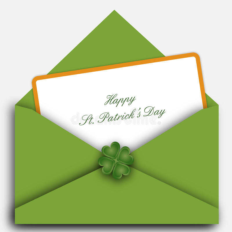 St. Patrick's day letter royalty free stock photography