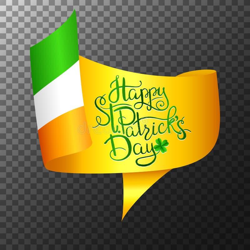 St. Patrick s Day Lettering vector illustration