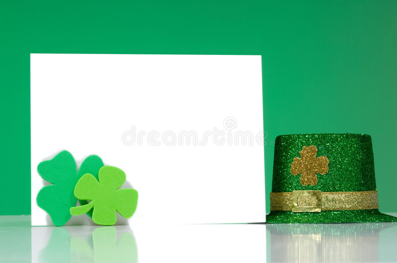 Download St. Patrick's Day Note Blank Notecard Stock Photo - Image: 2018472