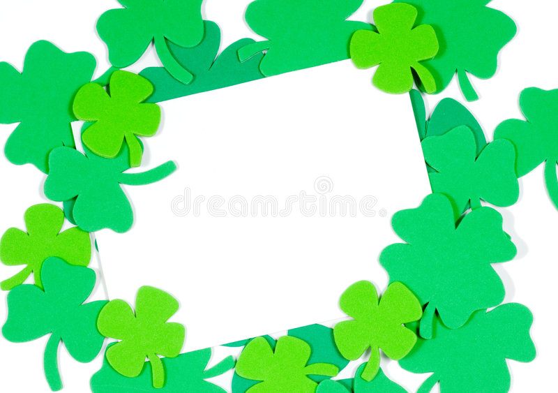 Download St. Patrick's Day Note Blank Notecard Stock Photos - Image: 2018603