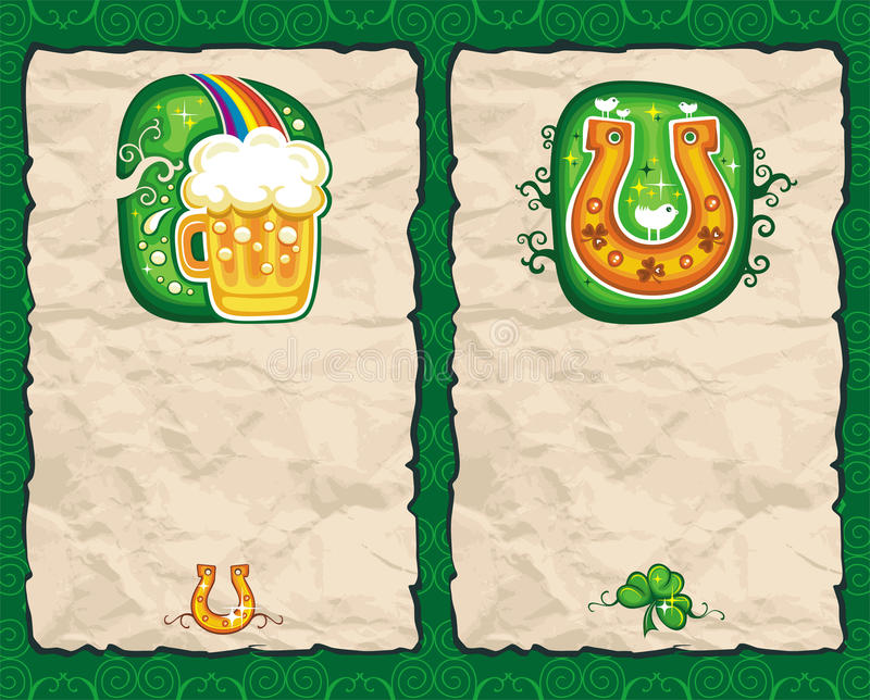 St. Patrick's Day paper backgrounds series 2 stock illustration