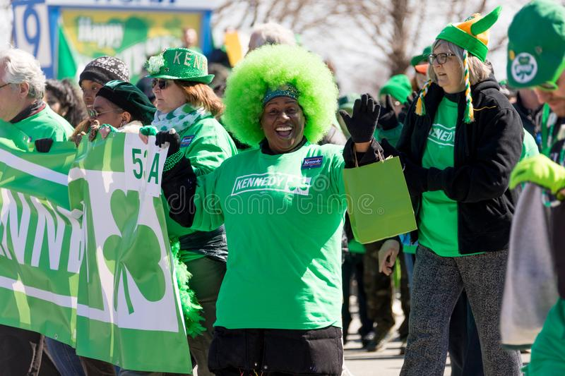St. Patrick`s Day Parade Chicago 2018 royalty free stock images