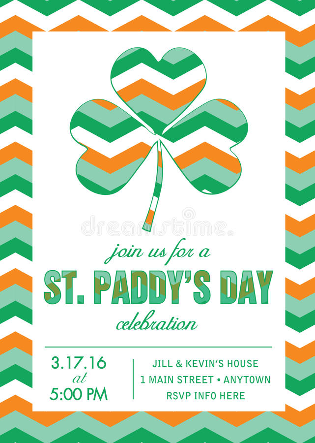 St. Patrick\'s Day Party Invitation Template - Vector Stock Vector ...