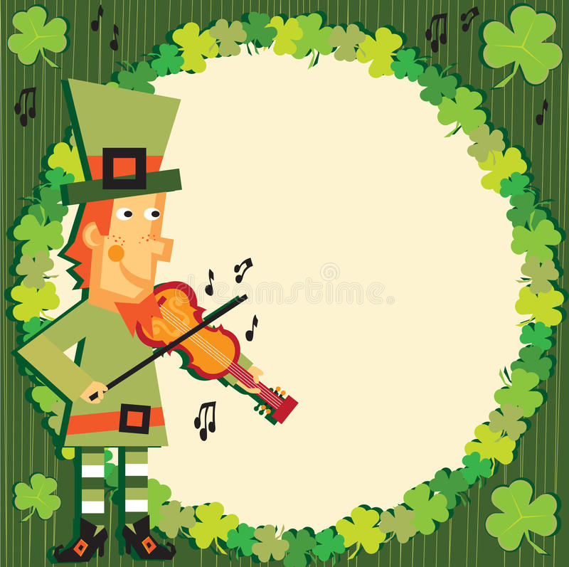 download st patricks day party leprechaun invitation stock vector illustration of fiddle notes