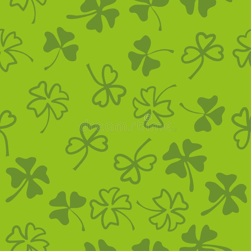 St. Patrick's day seamless background with shamrock. Eps-8 royalty free illustration