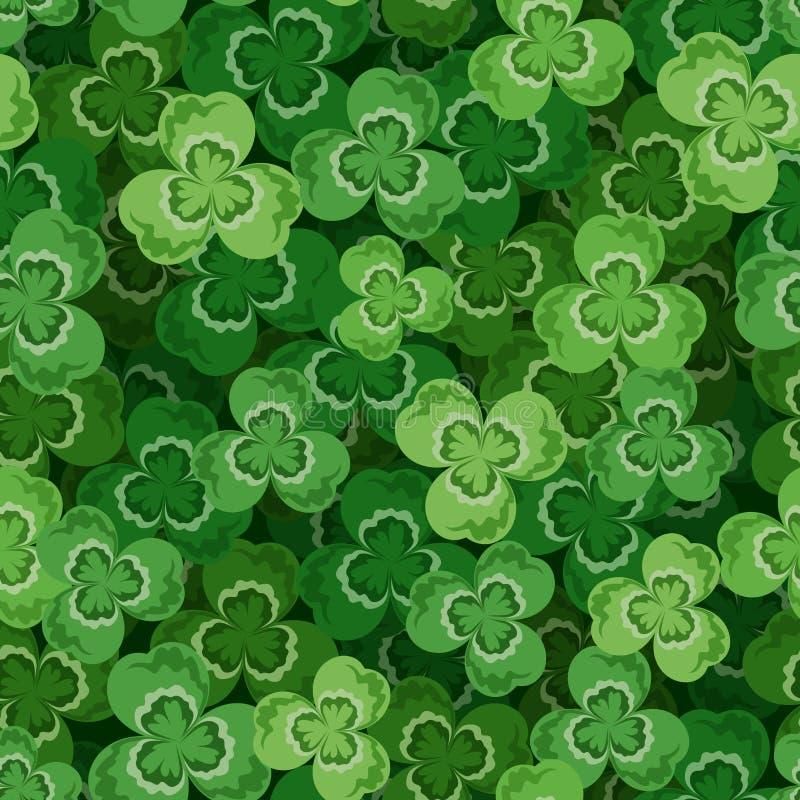 St. Patricks day seamless background with shamrock vector illustration