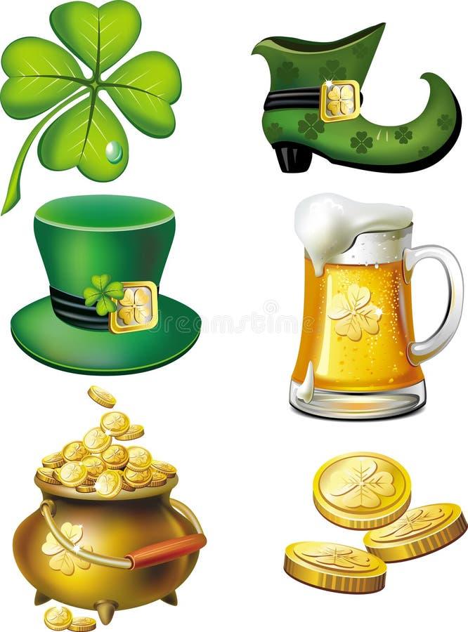 St. Patrick's day set stock illustration