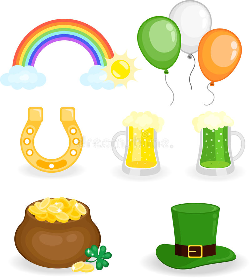 Download St. Patrick's Day set stock vector. Image of holiday - 19035060