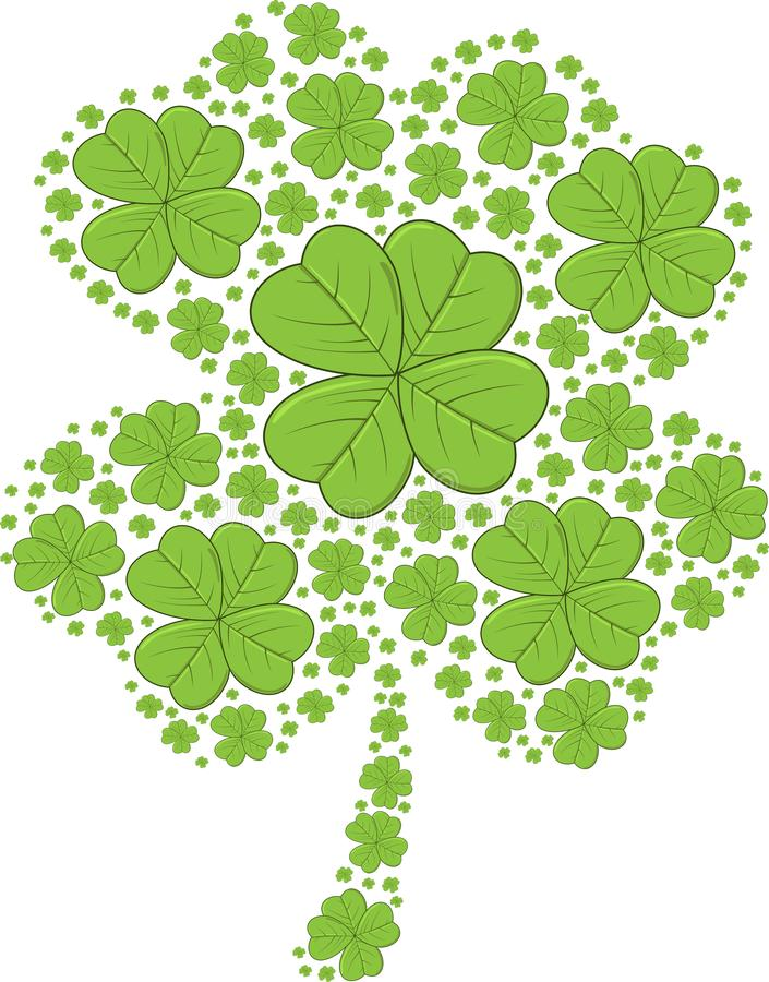 St. Patrick's Day Shamrocks - vector illustration royalty free stock photos