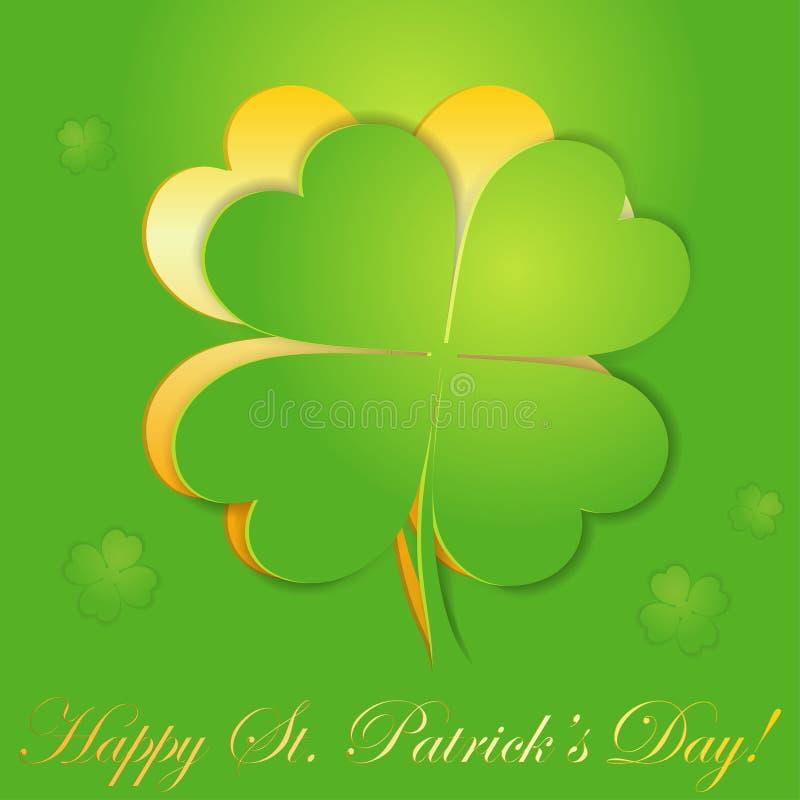 St. Patrick's Day sticker royalty free illustration