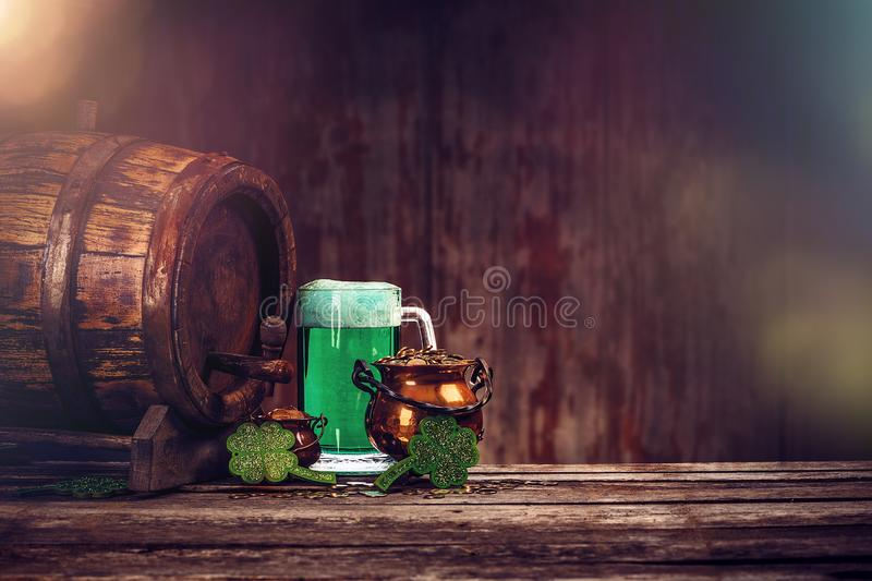 St. Patrick`s day still life royalty free stock photo
