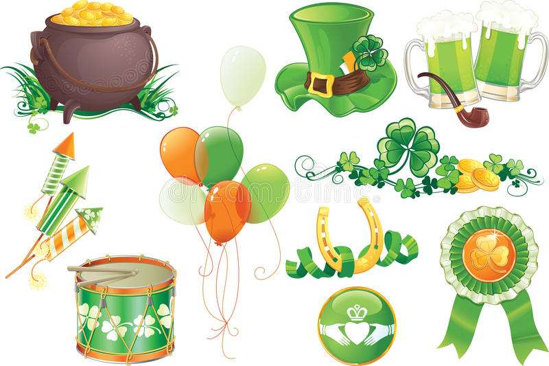 St.Patrick's Day symbols stock photo