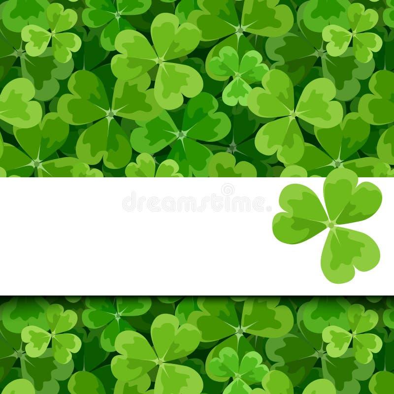 St. Patricks day vector card with shamrock. St. Patricks day vector green card with shamrock royalty free illustration