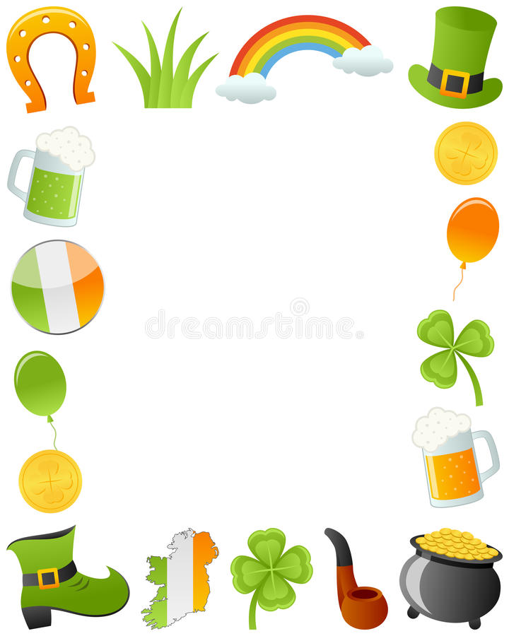 St. Patrick s dnia fotografii rama ilustracja wektor