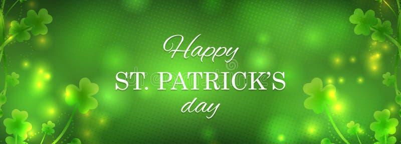 St Patrick ` s dnia kartka z pozdrowieniami royalty ilustracja
