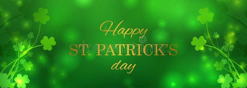 St Patrick ` s dnia kartka z pozdrowieniami ilustracja wektor