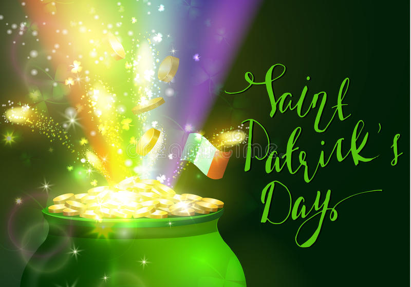 St Patrick s dnia symbolu zieleni garnek ilustracji