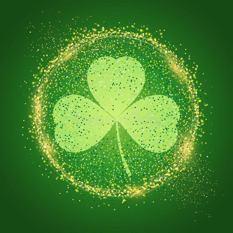 St Patrick ` s dnia tło z shamrock ilustracja wektor