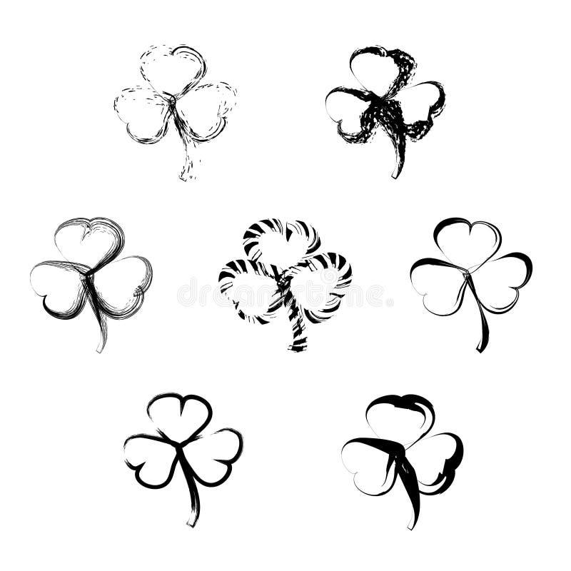 St Patrick ` s dnia wektorowy horyzontalny tło royalty ilustracja