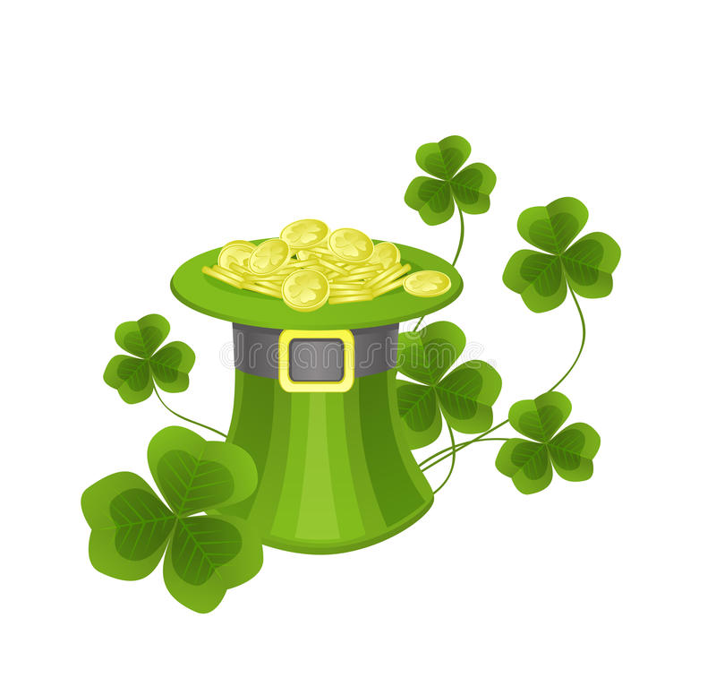 St. Patrick's hat vector illustration