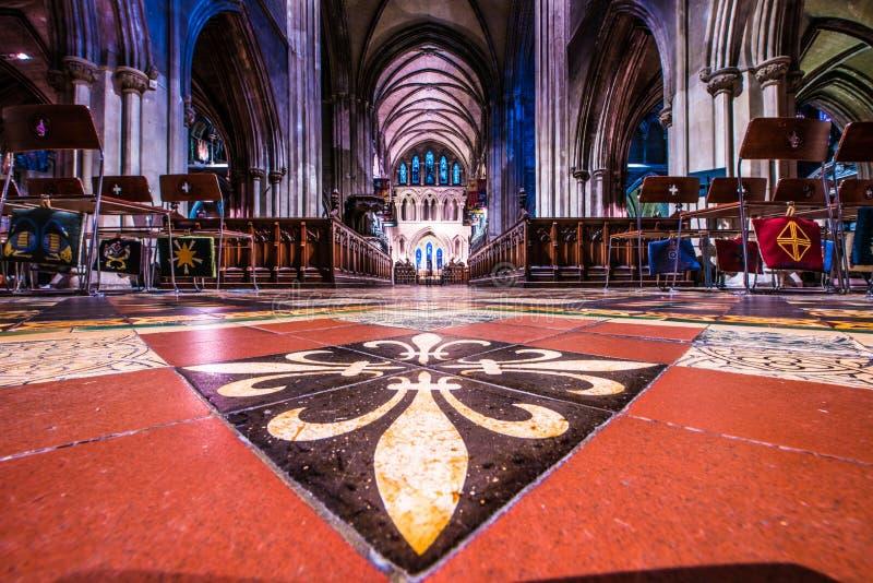 St Patrick ` s Kathedraal in Dublin, Ierland stock foto's