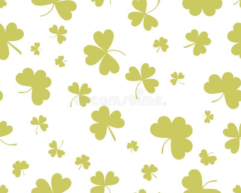 St- Patrick` s Tageshintergrund mit dem Klee mit drei Blättern lizenzfreie abbildung