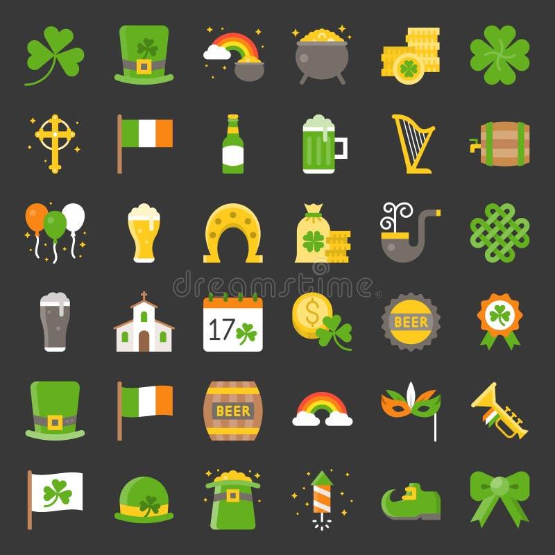 St- Patrick` s Tagesikone vektor abbildung