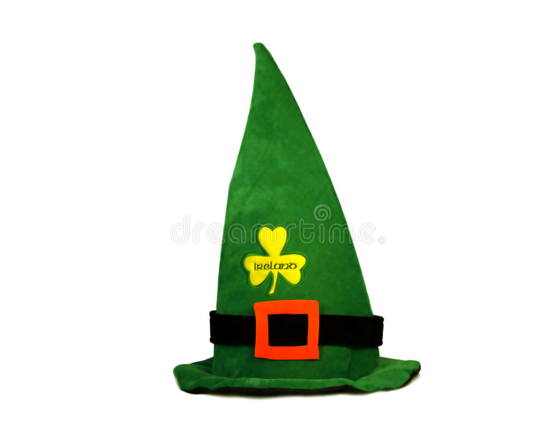 St. Patrick's velour hat royalty free illustration